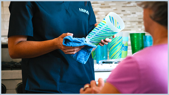 Amada Senior Care Southern Fairfax County household chores and cleaning