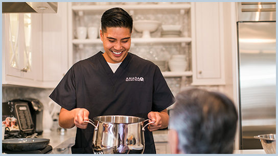 Amada Senior Care Los Angeles meal prep