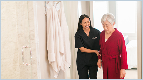In-Home Senior Care Toileting Assistance ADL